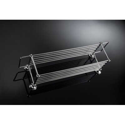 WS Bath Collections Vanessia Double Towel Rack in Polished Chrome