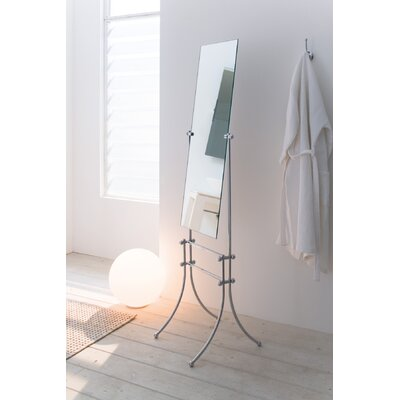 WS Bath Collections Vanessia Free Standing Mirror in Polished Chrome