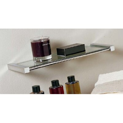 "WS Bath Collections Metric 5.9"" x 3.1"" Shelf in Polished Chrome"