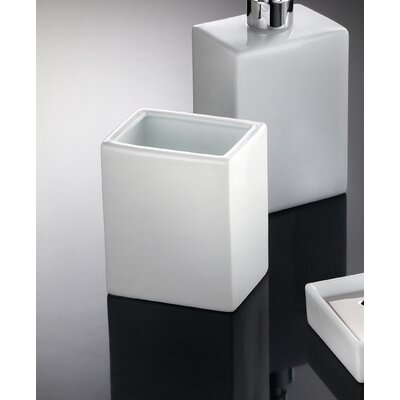 "WS Bath Collections Complements 19.7"" x 11.8"" Saon Tumbler in White"