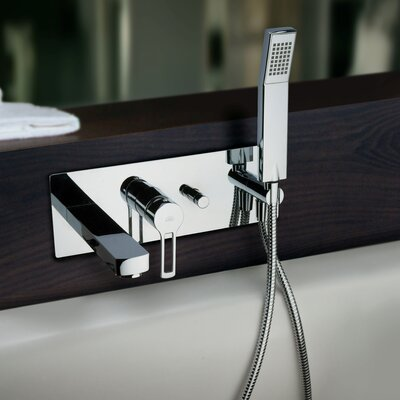 WS Bath Collections Fonte Ringo Single Handle Wall Mount Tub Filler Trim