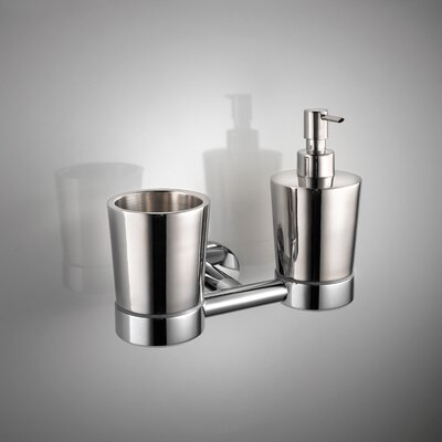 WS Bath Collections Napie Wall-mount Tumbler and Soap Dispenser