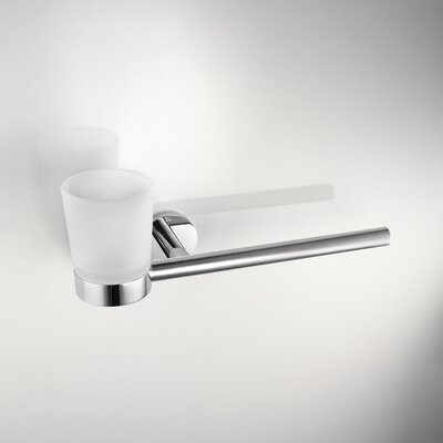WS Bath Collections Napie Wall-mount Towel Bar and Tumbler