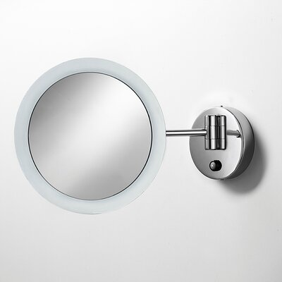 WS Bath Collections Mevedo Wall-mount Twistable Magnifying Makeup Mirror, with Lighting