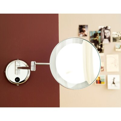 WS Bath Collections Pom d'Or Wall-mount Extendable Magnifying (3X) Makeup Mirror with Light, 8.7""