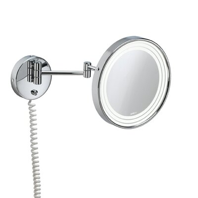 WS Bath Collections Pom d'Or Wall-mount Extendable Magnifying (3X) Makeup Mirror with Light, 9.5""