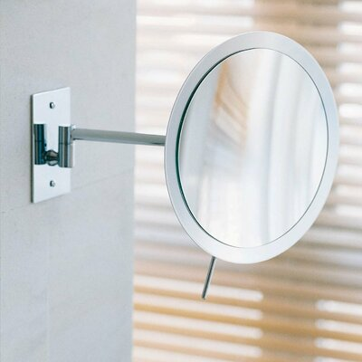 WS Bath Collections Mirror Pure Wall-mount Round Magnifying (3X) Makeup