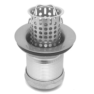 "WS Bath Collections Cuisine 2.5"" Lift Strainer Grid Kitchen Sink Drain"