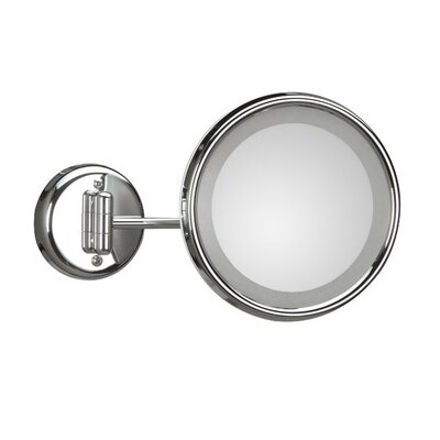 WS Bath Collections Lucciolo Wall-Mount Magnifying Cosmetic Mirror with Lighting