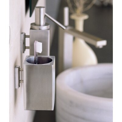 WS Bath Collections Metric Wall-Mount Toothbrush Holder