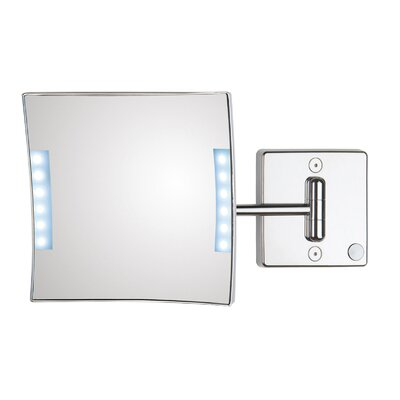 WS Bath Collections Quadrololed Wall-Mount Magnifying Cosmetic Mirror with Lighting