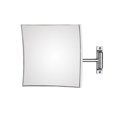 "WS Bath Collections Mirror Pure 7.9"" H x 7.9"" W Quadrolo Magnifying Cosmetic Mirror"