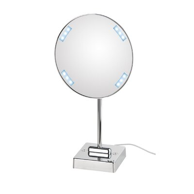 WS Bath Collections Mirror Pure Discololed Magnifying Cosmetic Mirror with Lighting