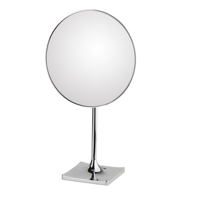 WS Bath Collections Discololed Free Standing Magnifying Cosmetic Mirror