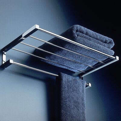 WS Bath Collections Metric Towel Bar and Shelf