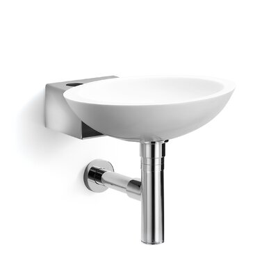 WS Bath Collections Linea Ciuci Wall Mounted Vessel Bathroom Sink