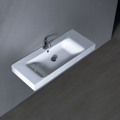 Ada compliant kerasan sink wayfair for Ada compliant bathroom sink