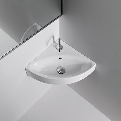 Kerasan Cento Wall Mounted / Vessel Bathroom Corner Sink - Cento 3541