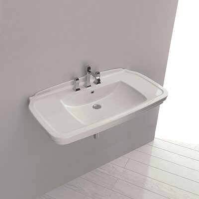 WS Bath Collections Ceramica Valdama Nova Wall Mounted / Vessel Bathroom Sink