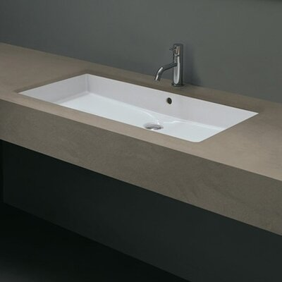 Ceramica Valdama Cubo Undermount Bathroom Sink - Cubo New 80