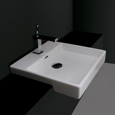Ceramica Valdama Plain Wall Mount Bathroom Sink - Plain 45S.01 / Plain 45S.00