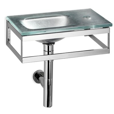 WS Bath Collections Linea Pocieta Glass Bathroom Sink