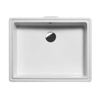 WS Bath Collections GSI Quadro New Rectangular Ceramic Bathroom Sink