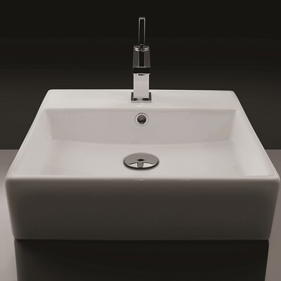 WS Bath Collections Ceramica Valdama Unlimited Wall Mount Bathroom Sink