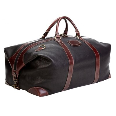 "Korchmar LaRomana 22"" Leather Expandale Travel Duffel"