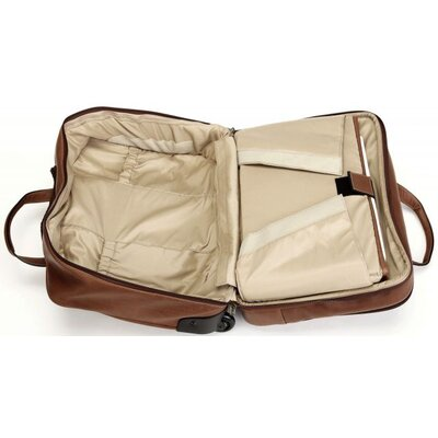 Korchmar Adventure Brown Deluxe Overnighter Wheeled Computer Brief Case