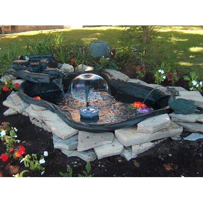 144 gallon folding pond kit with streamlet wayfair for Garden pond kit