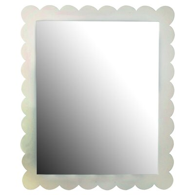 New Arrivals Scalloped Framed Mirror in White
