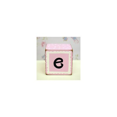 "New Arrivals ""e"" Letter Block in Pink"