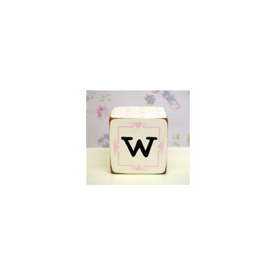 "New Arrivals ""w"" Letter Block in Pink"