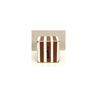 "New Arrivals ""i"" Letter Block in Chocolate"