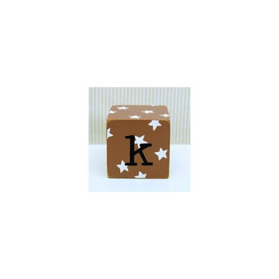 "New Arrivals ""k"" Letter Block in Chocolate"