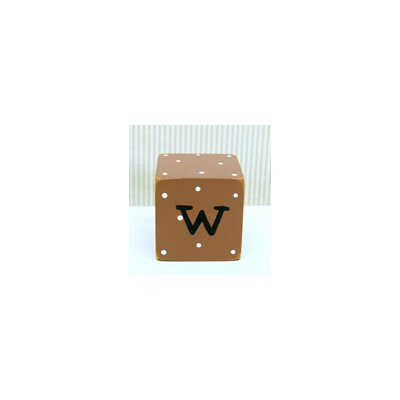 "New Arrivals ""w"" Letter Block in Chocolate"