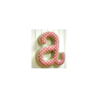 "New Arrivals ""a"" Fabric Letter in Pink / Green"