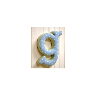 "New Arrivals ""g"" Fabric Letter in Blue / Green"