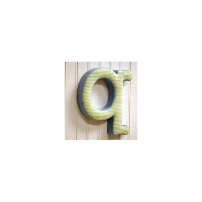 "New Arrivals ""q"" Fabric Letter in Blue / Green"