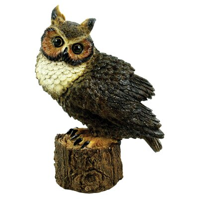 Michael Carr Great Horned Owl Perched Statue