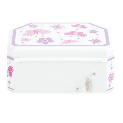 Mele & Co. Kelsey Girl's Glitter Fly Musical Ballerina Jewelry Box