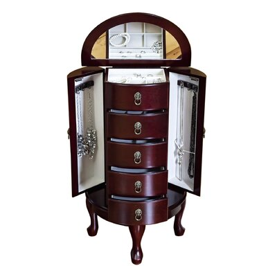 Astoria Jewelry Armoire in Cherry