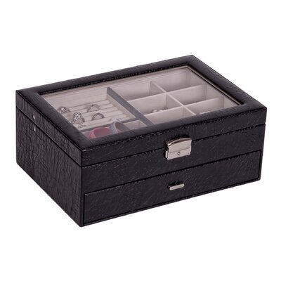 & Co. Colette Glass Top Locking Jewelry Box