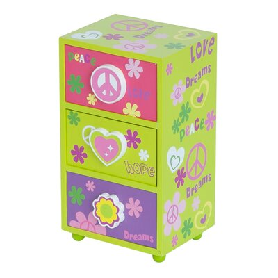 Daisy Peace and Love Jewelry Box