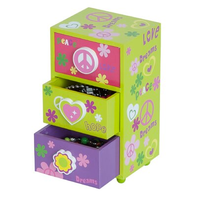Mele & Co. Daisy Peace and Love Jewelry Box