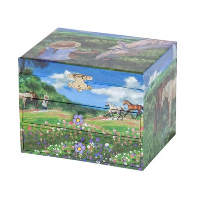 Annie Girl's Musical Horse Jewelry Box