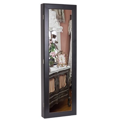 Margaux Mirrored Wooden Hanging Jewelry Cabinet