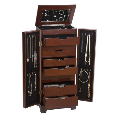 Mele & Co. Lynwood Wooden Jewelry Armoire