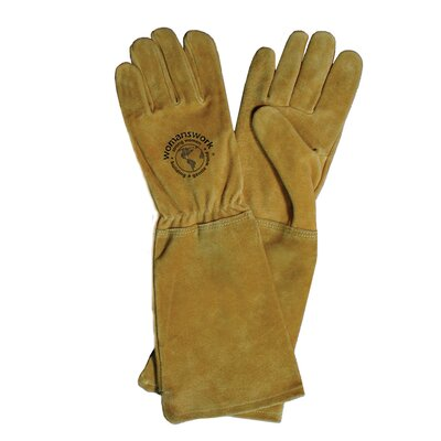 Womanswork Rose Leather Gauntlet Gloves